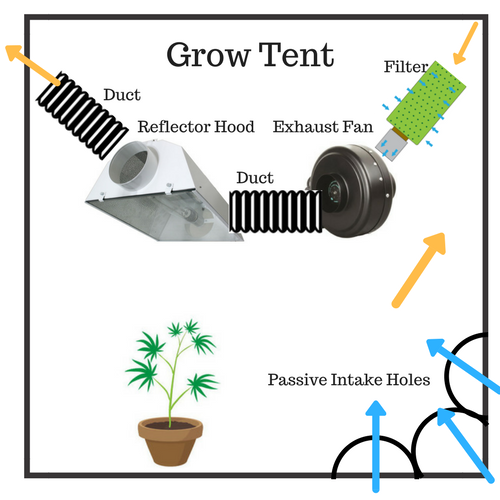 Set up HID- Filter - Fan - Ducting - Hood - Duct  sc 1 st  Herbonaut & How to Set Up Your Grow Tent for an Effective (Marijuana) Grow
