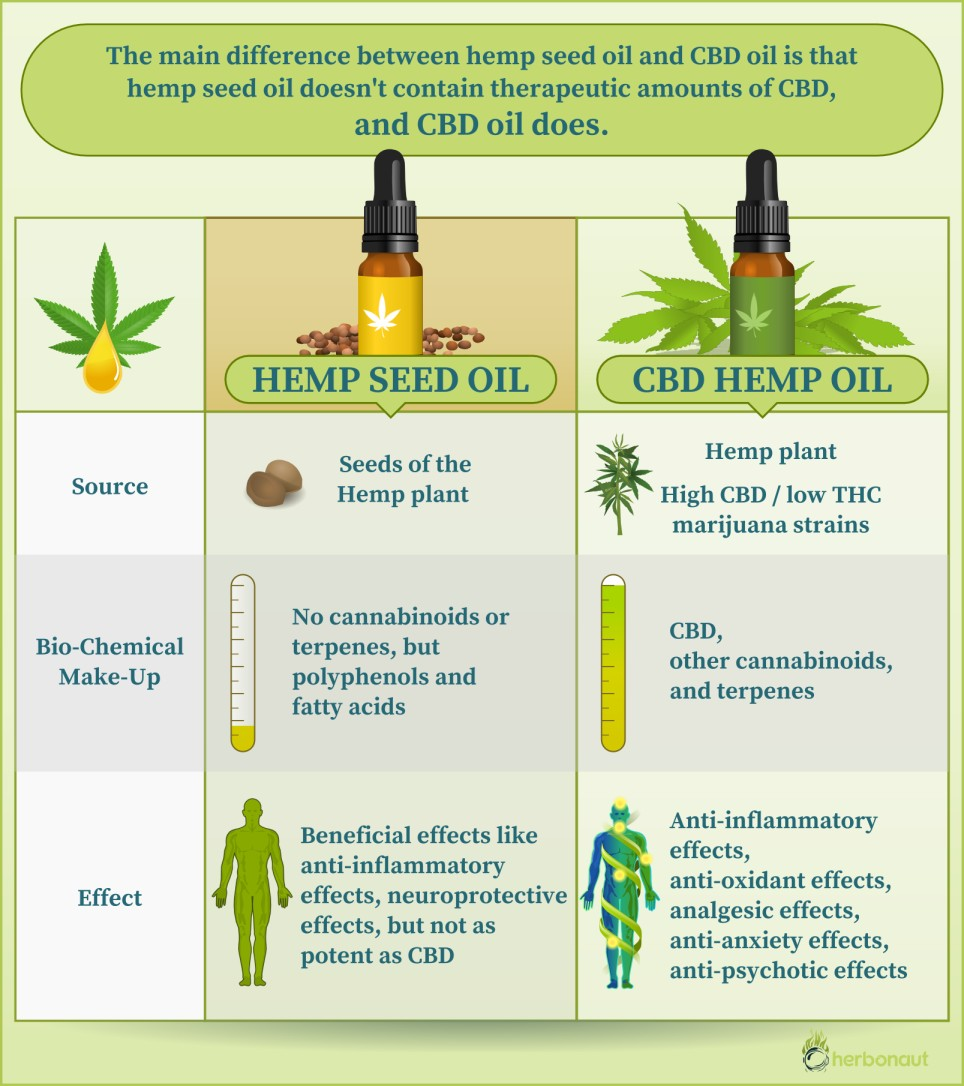 Difference Between Hemp Seed Oil and CBD Hemp Oil