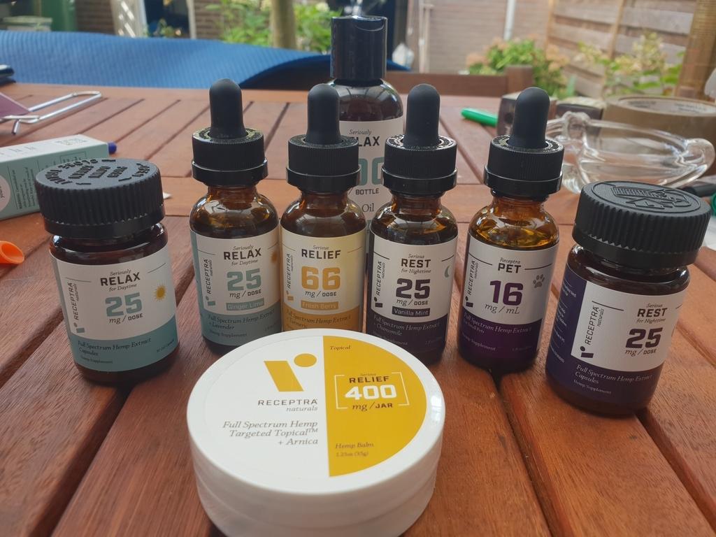 Receptra Naturals CBD Products