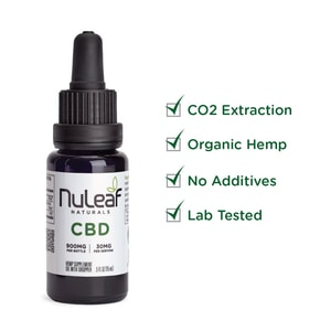 NuLeaf Naturals Full Spectrum Hemp CBD Oil 900mg (60mg/mL)