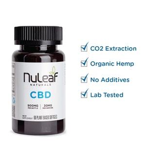 NuLeaf Naturals Full Spectrum Hemp CBD Capsules 900mg (15mg/capsule)