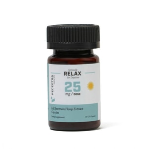 Receptra Naturals Seriously Relax Gel Capsules 25mg / 30 Gel Caps